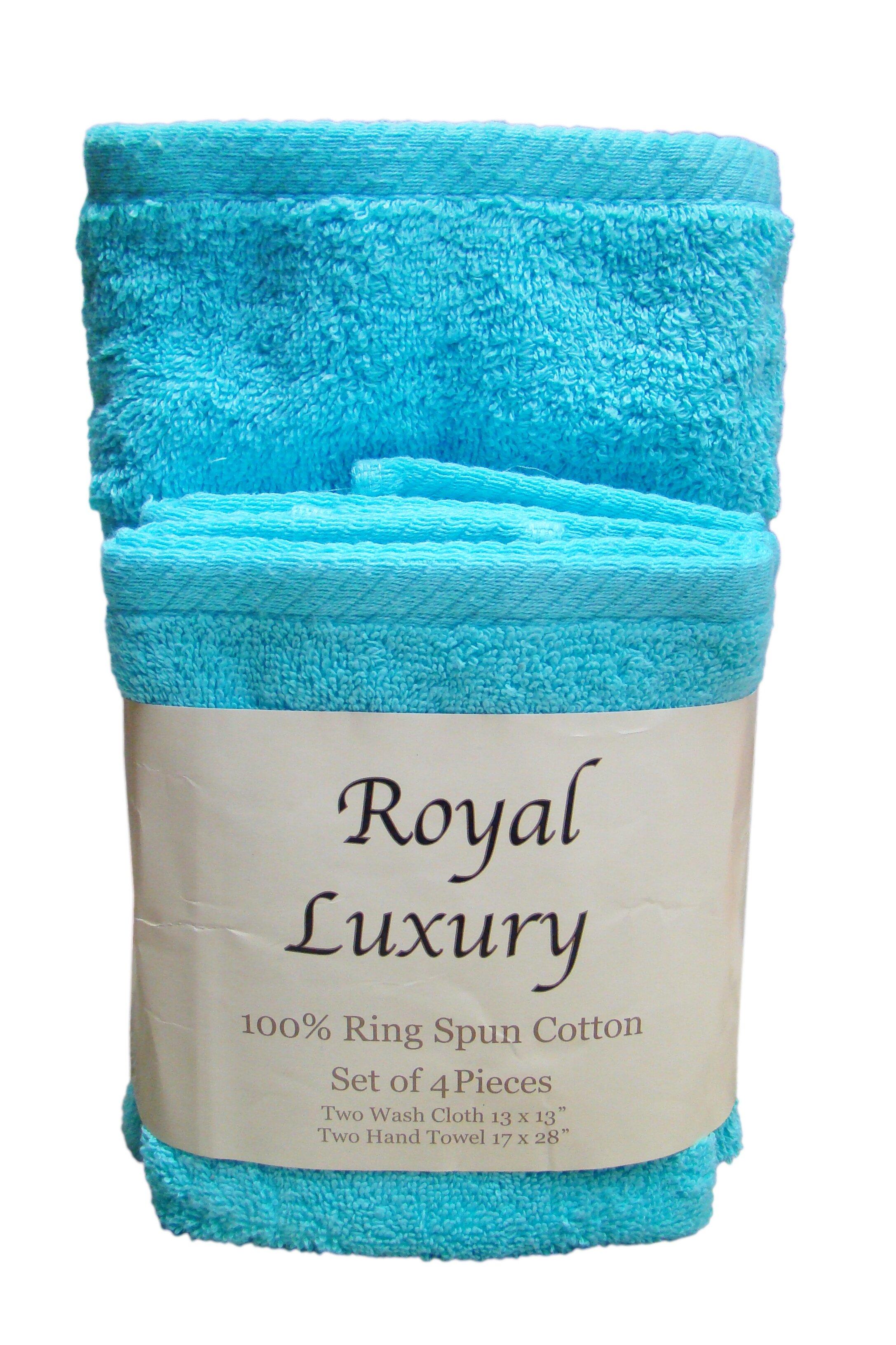 Textiles Plus Inc 4 Piece 100 Cotton Towel Set Reviews Wayfair