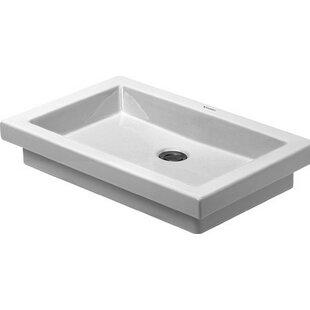 Inexpensive Ceramic Rectangular Vessel Bathroom Sink ByDuravit