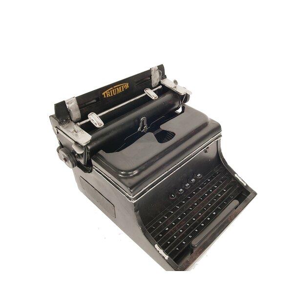 "Triumph German Typewriter 1945 Machine Metal Model 8.5/"" Home Office Decor New"