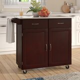 Southerland Large Kitchen Cart with Stainless Steel Top by Andover Mills™