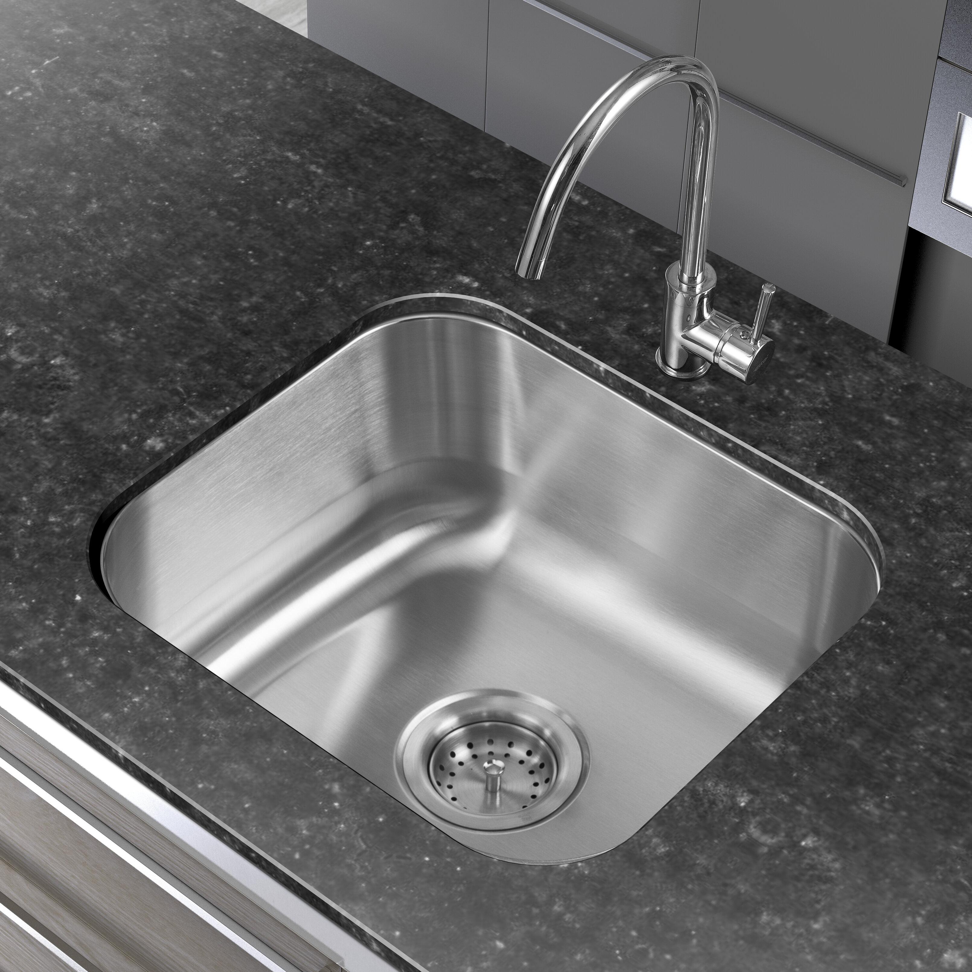 Undermount Kitchen Sink With Drainer Winpro 18 x 16 single basin undermount kitchen sink reviews winpro 18 x 16 single basin undermount kitchen sink reviews wayfair workwithnaturefo