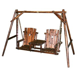Char-Log Jr. Tete-a-Tete Porch Swing with Stand by Leigh Country
