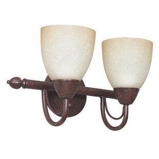Best Boutin 2-Light Vanity Light By Fleur De Lis Living
