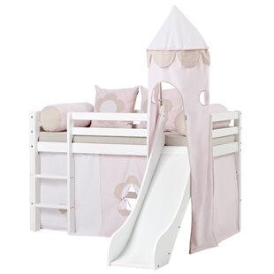 Basic Fairytale Flower Mid Sleeper Bed With Curtain By Hoppekids