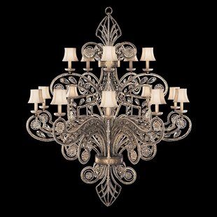A Midsummer Nights Dream 15-Light Shaded Chandelier by Fine Art Lamps