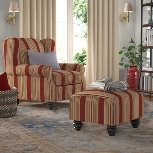 Brougham Wingback Chair and Ottoman by Darby Home Co