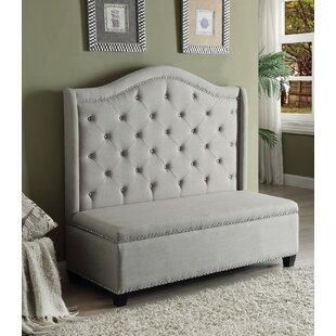 Heckson Upholstered Storage Bench