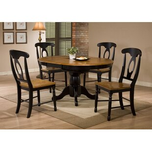 Three Posts Courtdale 5 Piece Solid Wood Extendable Dining Set