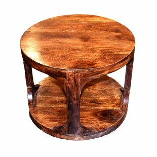 Worton Round Wooden End Table by Millwood Pines