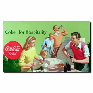 Coke for Hospitality Vintage Advertisement on Wrapped Canvas ByTrademark Fine Art