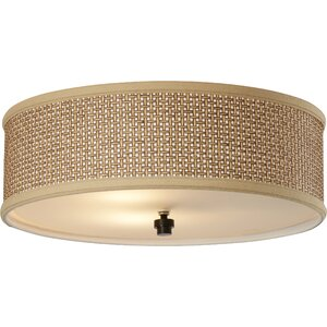 Crane 3-Light Flush Mount