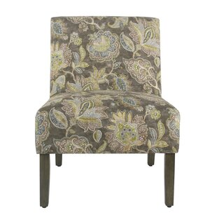 Chalkhill Floral Slipper Chair by Winston Porter