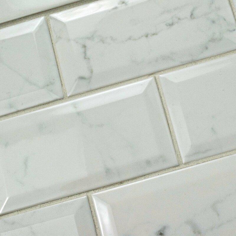 Elitetile karra carrara 3 x 6 ceramic subway tile in glossy metro karra carrara 3 x 6 ceramic subway tile in glossy metro ppazfo