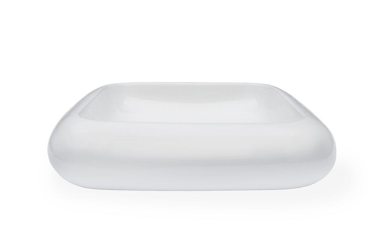 Novatto Ceramic Square Vessel Bathroom Sink