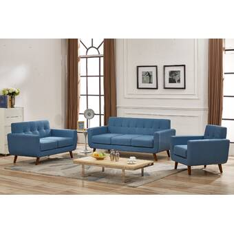 George Oliver Luciano 2 Piece Living Room Set Wayfair
