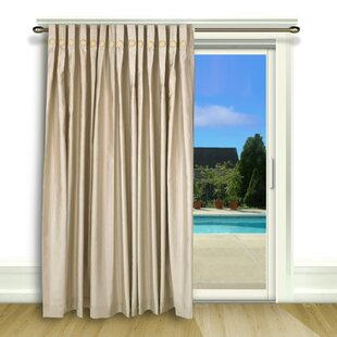 Patio Door Pinch Pleat Drapes Wayfair