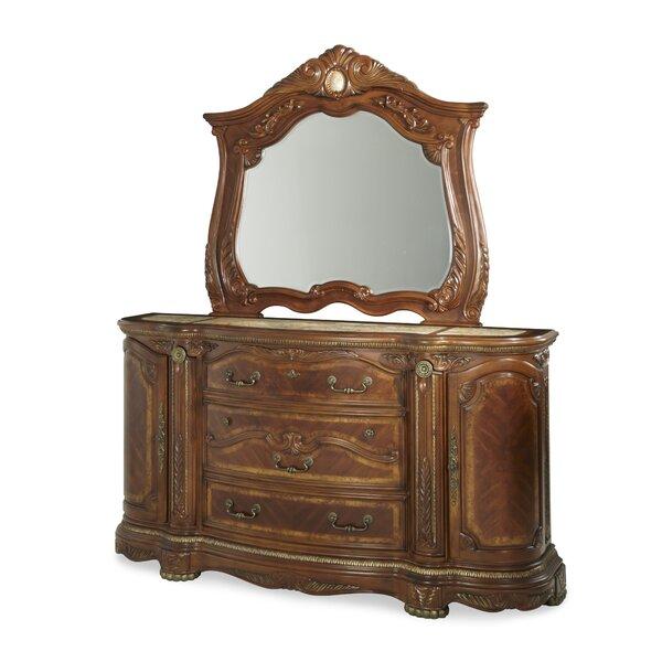 Honey Dresser With Mirror Wayfair