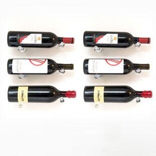 Vino Pins 6 Bottle Wall Mounted Wine Bott..