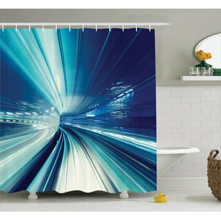Abrielle Asian Tokyo at Night Shower Curtain