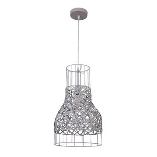 Bungalow Rose Monique 1 -Light Bell Pendant