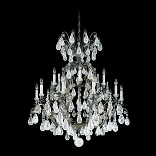 Schonbek Versailles Rock Crystal 15-Light Chandelier