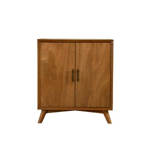 Englehart Wooden 2 Doors and Splayed Legs Bar Cabinet
