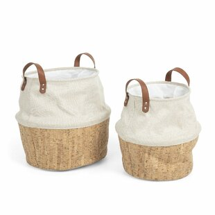 Fabric Basket (Set Of 2) By Beachcrest Home
