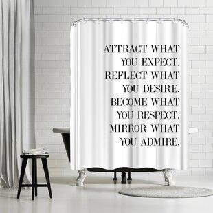 Explicit Design Believe Single Shower Curtain