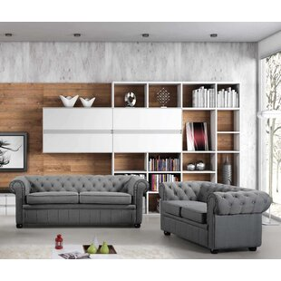 Kissling Chesterfield 2 Piece Living Room Set