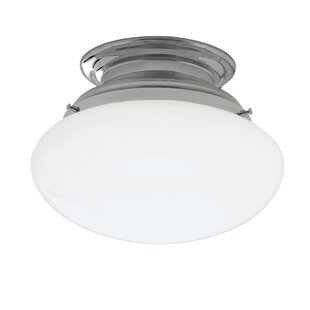 Ebern Designs Klein 1-Light Semi Flush Mount