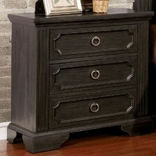 Calderwood 3 Drawer Nightstand by Darby Home Co