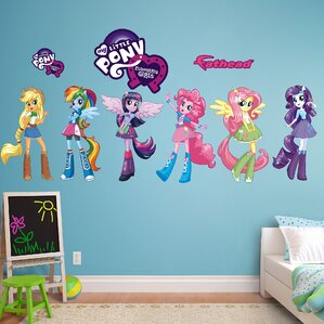Hasbro My Little Pony   Equestria Kids Peel And Stick Wall Decal