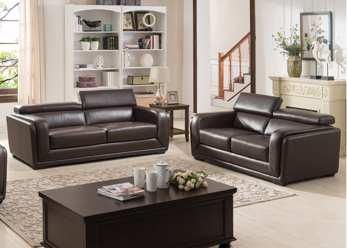 Modern Leather Living Room Sets