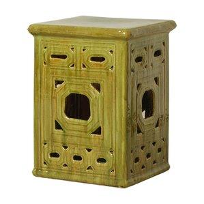 Plain Chinese Garden Stools Lattice Square Frame Stool With Design