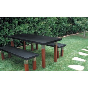 Kenji Solid Wood Dining Table by Modern Outdoor