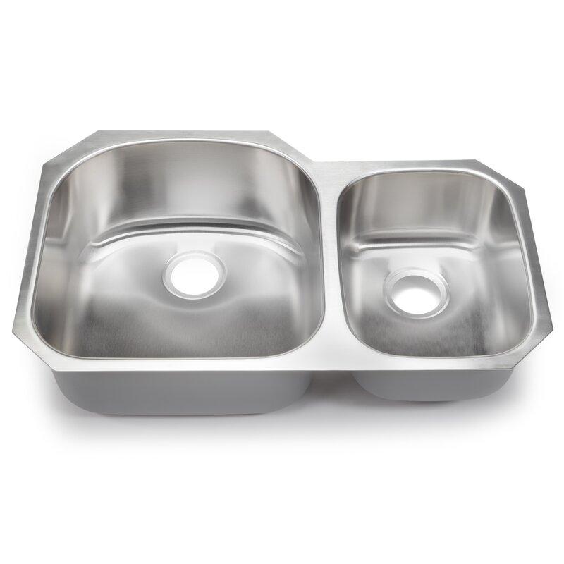 classic chef 32 38   x 20 5   double bowl undermount kitchen sink hahn classic chef 32 38   x 20 5   double bowl undermount kitchen      rh   wayfair com