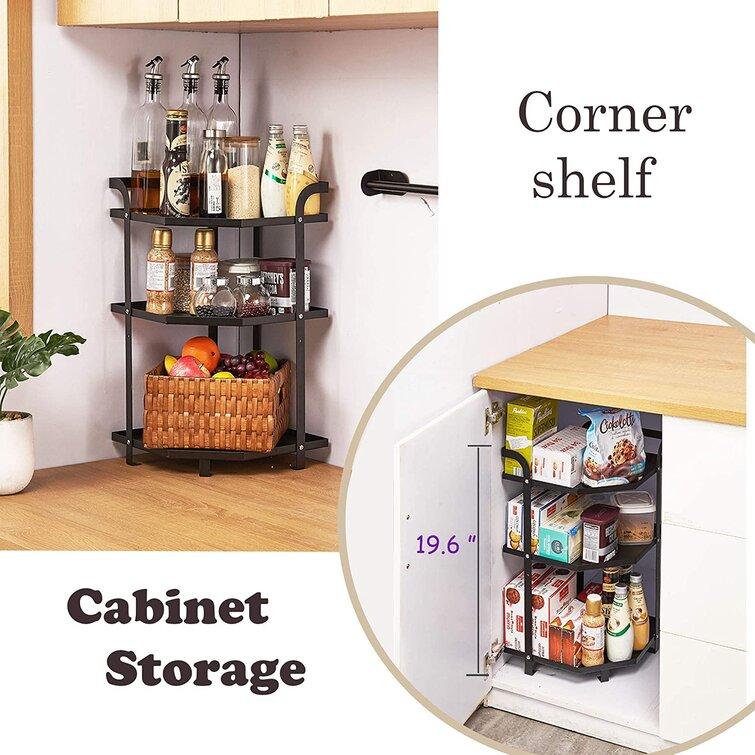 Table Storage Shelf Heavy Duty Black