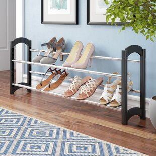 10 Pair Stackable Shoe Rack By Rebrilliant