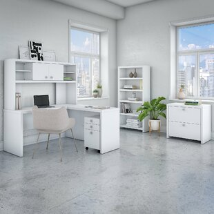 Echo 5 Piece L-Shaped Desk Office Suite