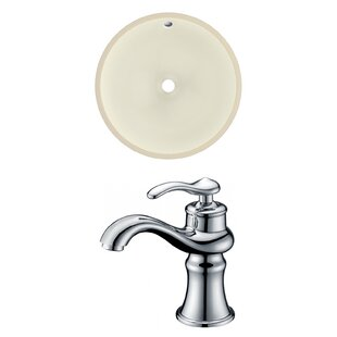 Affordable Ceramic Circular Undermount Bathroom Sink with Faucet and Overflow By American Imaginations