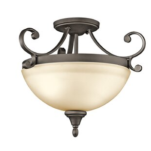 Bretton 2-Light Semi Flush Mou..