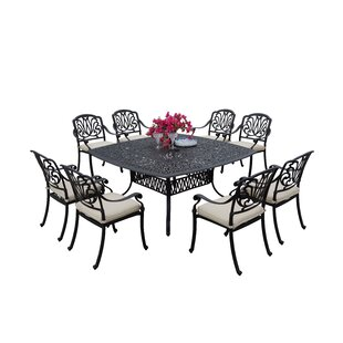 Laszlo 9 Piece Dining Set with Cushions