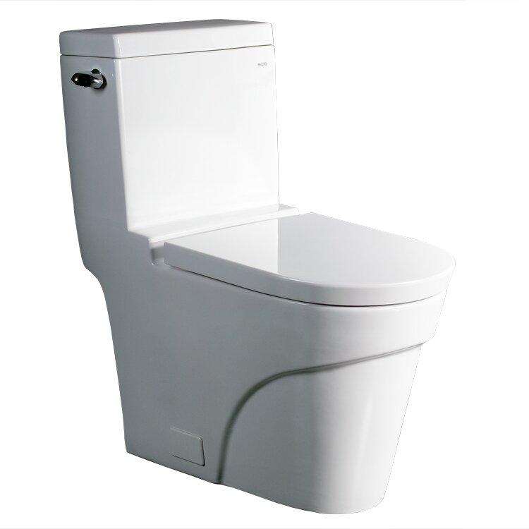 Ariel Bath Oceanus Contemporary 1.6 GPF Elongated One-Piece Toilet ...