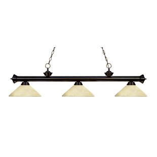 Zephyr Modern 3-Light Bell Shade Billiard Light by Red Barrel Studio