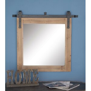 Wood/Metal Wall Mirror