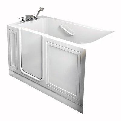 Acrylic 51 x 30 Walk-In Combo Massage Air/Whirlpool Bathtub American Standard Drain Location: Right, Color: White
