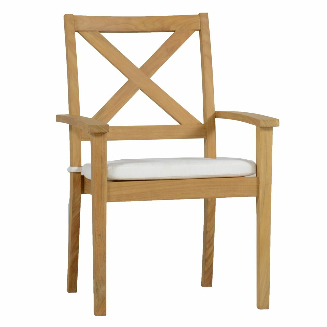 x back dining chairs. summer classics drake x back teak stacking patio dining chair with cushion | wayfair chairs a