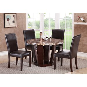 Lonie Faux Mable Dining Table by Red Barr..