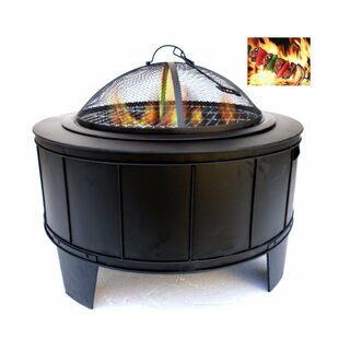 Benzara Cast Iron Wood Burning Fire Pit