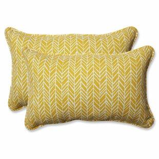 Herringbone Indoor/Outdoor Lumbar Pillow (Set of 2)